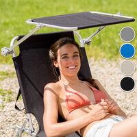 Transat acier - chaise longue, bain de soleil, transat jardin - gris