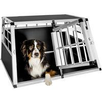 Caisse de Transport Chien en Aluminium 89 cm x 69 cm x 50 cm Noir