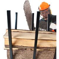 Chevalet de sciage pliable avec Barre de blocage 76 cm x 53 cm x 102 cm en Acier
