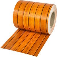 Brise Vue Brise Vent Film Anti Regards PVC en Rouleau de 35 m x 19 cm pour Clôture + Fixations Marron Bois