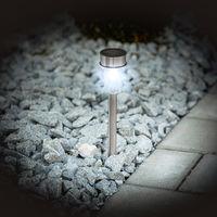 Lot de 24 Lampes Solaires d'Extérieur de Jardin à LED 1 Lm / Lampe Gris