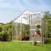Serre de Jardin Polycarbonate 3,7 m² + 1 Embase en Acier