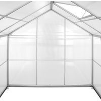 Serre de Jardin Polycarbonate 3,7 m² + 1 Lucarne