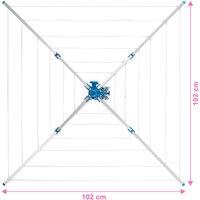 Etendoir à Linge Extérieur Parapluie Pliable Réglable en Aluminium 102 cm x 102 cm x 160 cm
