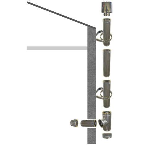 Kit création conduit isolé Ø80mm pour extérieur - 3m