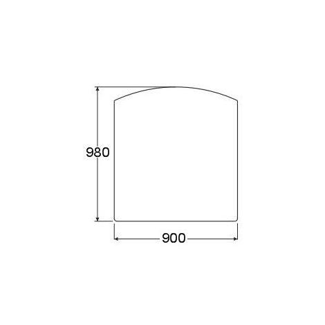 Plaque de sol forme F en acier noir - 900 x 1000 mm