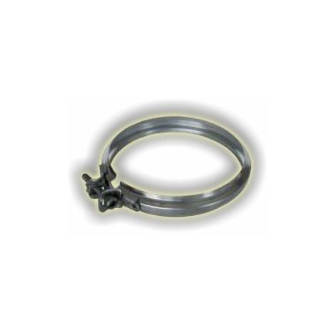 Collier de jonction simple paroi inox - Ø 180