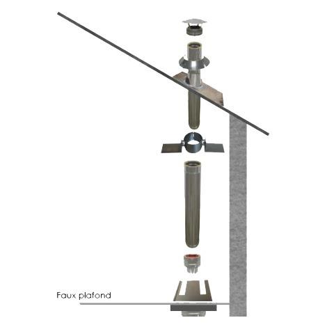 Kit conduit isolé Ø 80 mm en intérieur - 2m