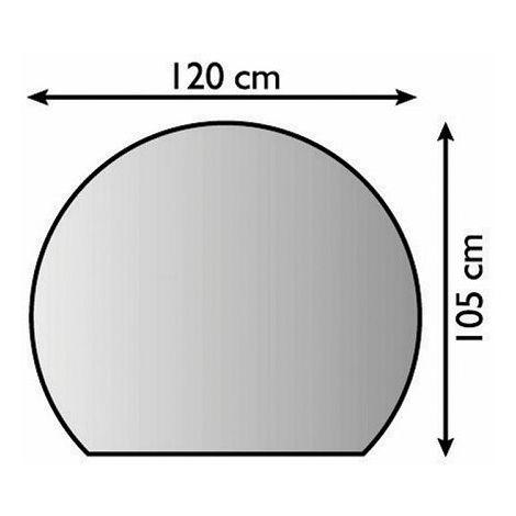 Plaque de sol forme H en métal argent antique - 1200 x 1050 mm