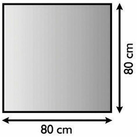 Plaque de sol forme A en métal argent antique - 800 x 800 mm