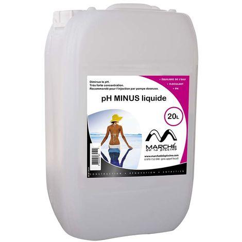 Correcteur piscine pH minus liquide Marchedelapiscine 20L