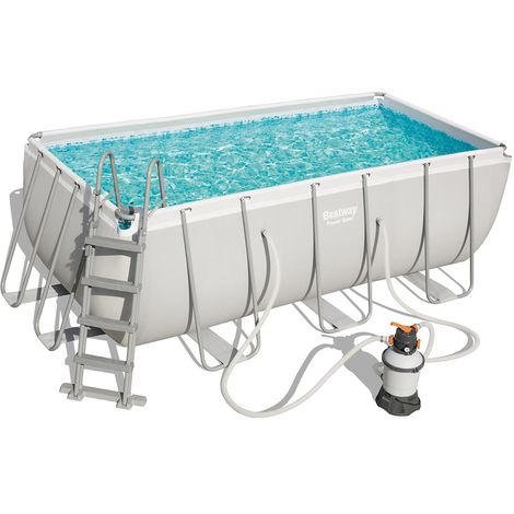 Kit piscine tubulaire Bestway POWER STEEL FRAME POOL rectangulaire 412x201x122cm à sable