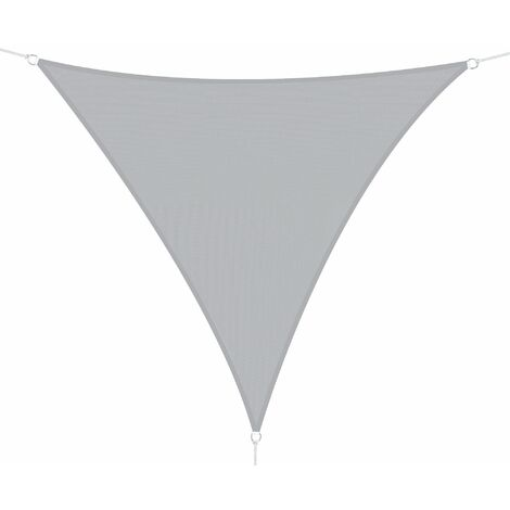 Outsunny Toldo Vela Triangular 3x3x3m Vela Sombra para Terraza Jardín Camping Poliéster - Gris