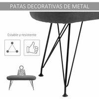 HOMCOM Banco de Cama Otomano Taburete con Patas de Metal para Dormitorio 106x35x45 cm - Gris