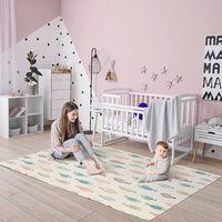 HOMCOM Alfombra Infantil Plegable Acolchado 2 Caras Alfombrilla de Juegos para Bebé Reversible Impermeable Antideslizantes 200x150 cm Multicolor - Multicolor
