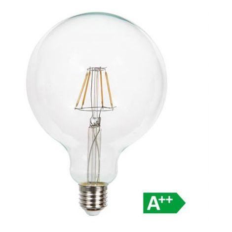 Bombilla LED E27 Filamento Globo G125 10W Temperatura de color - 6400K Blanco frío