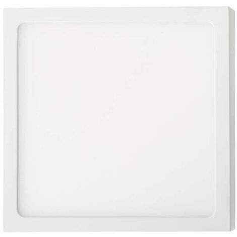 Plafón LED superficie cuadrado 12W 120° Temperatura de color - 6000k Blanco frío