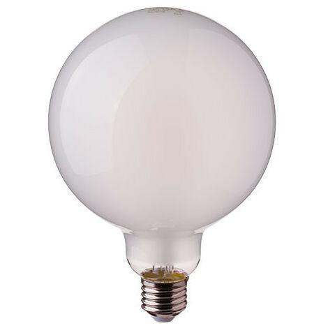 Bombilla LED E27 Globo Filamento Frost Cover G125 7W Temperatura de color - 2700K Blanco cálido