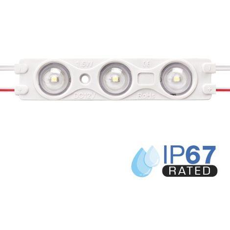 Módulo LED para rotulación Verde 1.5W 3LED IP67 12V Diodo SMD2835