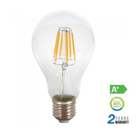 Bombilla led filamento A67 E27 8W 300° Temperatura de color - 4000K Blanco natural