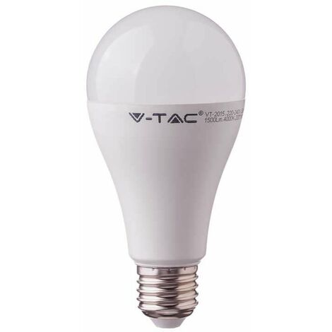 Bombilla LED Samsung A65 E27 15W 200° V-TAC PRO Temperatura de color - 6400K Blanco frío