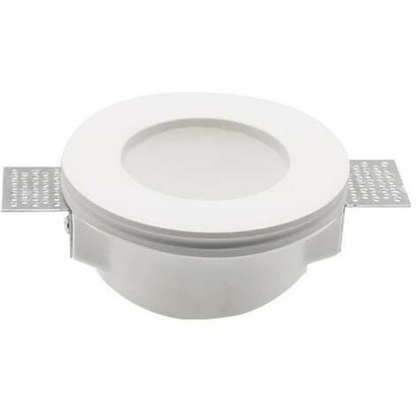 Aro empotrable Frost Glass para bombilla LED GU10 yeso circular blanco