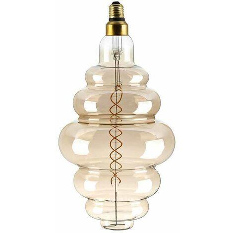 Bombilla LED E27 Regulable de Filamento en espiral Smoky Cover S200 2000K 8W