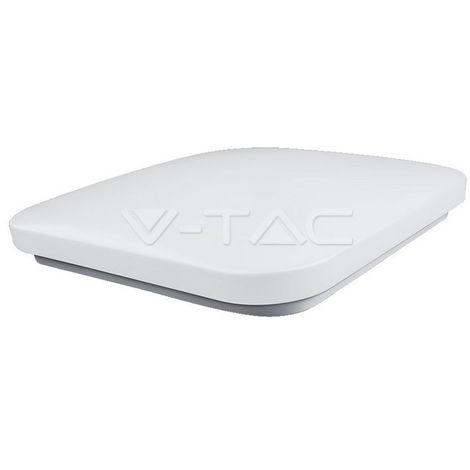 Plafón LED superficie Flat Diffuser Cuadrado 32W 120° Temperatura de color - 3000K Blanco cálido