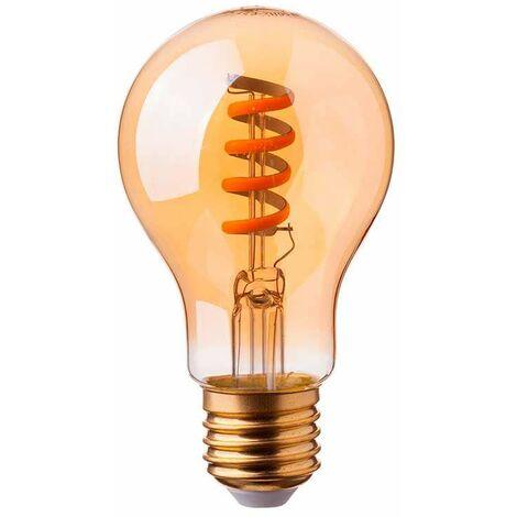 Bombilla LED E27 filamento espiral gold cover A60 4W