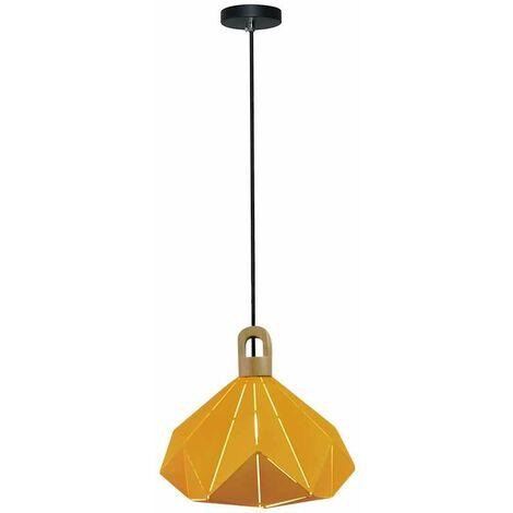 Lámpara Colgante Serie Prism Wooden Amarillo