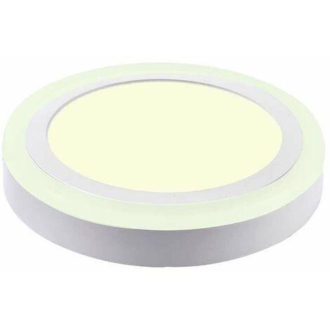Downlight superficie Twin LED circular 8W 120° Temperatura de color - 3000K Blanco cálido