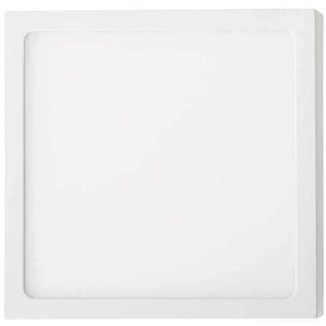 Plafón LED superficie cuadrado 18W 120° Temperatura de color - 3000K Blanco cálido
