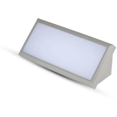 Aplique LED de pared Serie Angular 12W 110° IP65 Gris Temperatura de color - 6400K Blanco frío