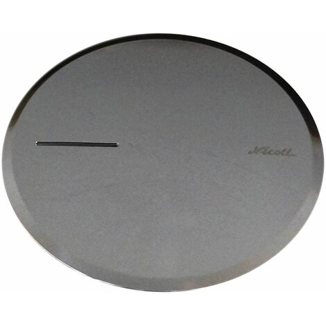 Capot métal chromé pour bonde de douche Turboflow 90 mm TB2