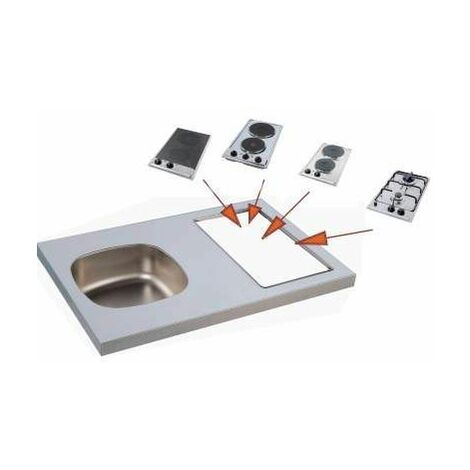 Evier kitchenette 90x60, avec découpe pour Domino (non fourni)
