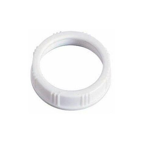 Écrou plastique 40x49mm blanc