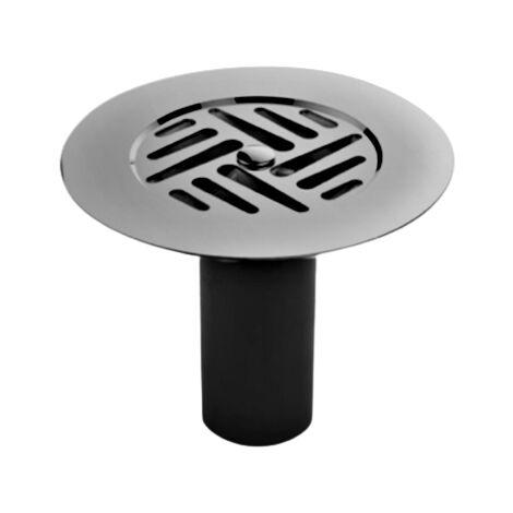 Grille cloche inox D.85 pour bonde sortie latérale