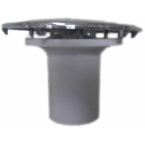 Capot 120mm laiton chromé avec tube garde d'eau pour bonde diamètre 90mm
