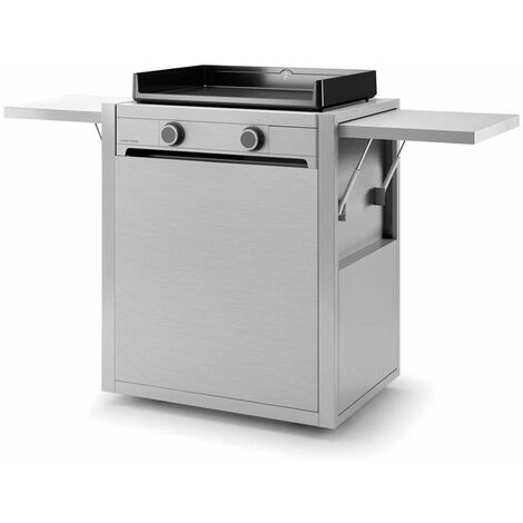 """Chariot inox pour plancha  FORGE ADOUR """"Modern"""" 60"""