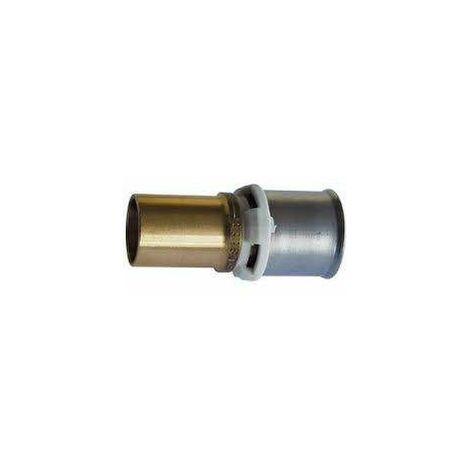Raccord passerelle pour cuivre de 16mm à multicouche de 16mm