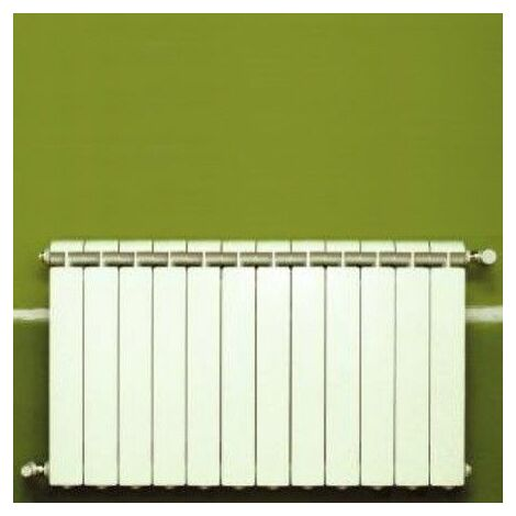 Chauffage central fonte aluminium 12 éléments blanc KLASS 350, 1020w