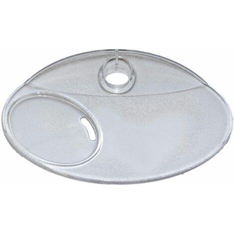 Porte savon cristal pour barre de douche de diamètre 22 mm
