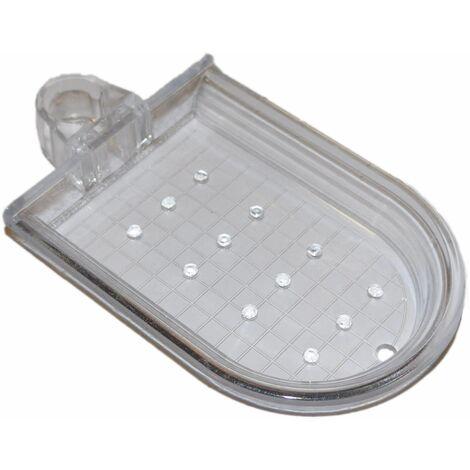 Porte savon cristal pour barre de douche de diamètre 20 mm