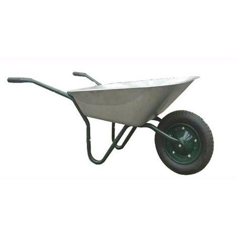 CARRIOLA da giardino carrello da giardino pieno ZINCATO 60 litri nero modern RUOTE