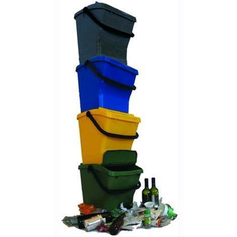 Pattumiera Contenitore per Differenziata Urbaplus colore Blu 40Lt Sovrapponibile