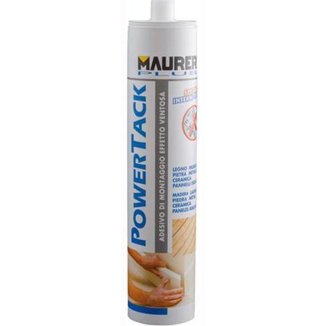 Silicone ADESIVO di MONTAGGIO MAURER PLUS POWERTACK per INTERNI BIANCO 400 gr