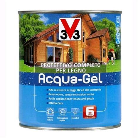 V33 Protettivo Completo Legno Acqua-Gel Trasparente Incolore 3 litri