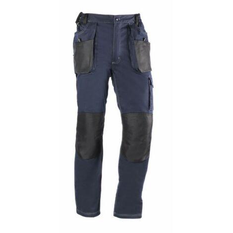 Pantalon trabajo l 68% alg 30% poli az/ne 181 multibolsillos