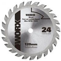 Disco corte mad 24 dientes 85mm para sierra circular worxsaw