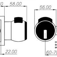 Pomo pta 70mm 13-70-us26d cr/sat condena cerraval